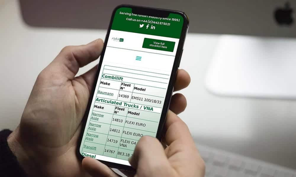 Sign up fpr stock updates from Matrix Handling Mobile View F